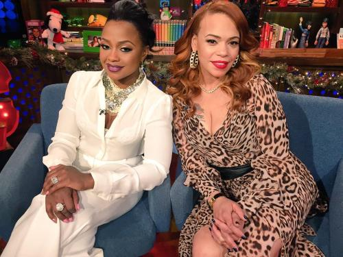 WWHL Phaedra and Faith Evans