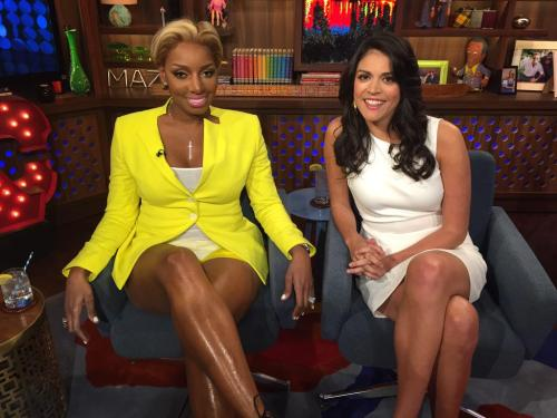 WWHL Nene yellow hot pants