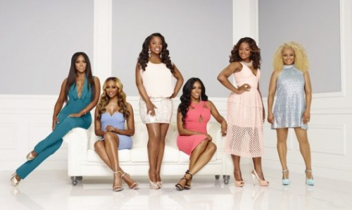 THE REAL HOUSEWIVES OF ATLANTA -- Season:8 -- Pictured: (l-r) Tammy McCall, Kenya Moore, Cynthia Bailey, Kandi Burruss, Porsha Williams, Phaedra Parks Nida, Kim Fields -- (Photo by: Mark Hill/Bravo)