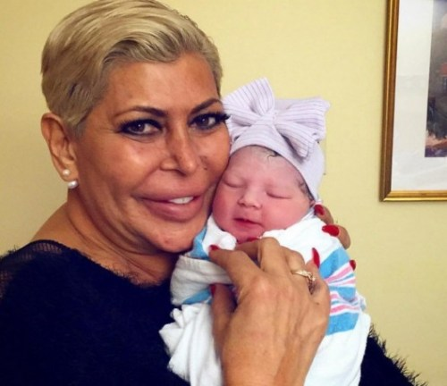 Big Ang with her newest grandbaby