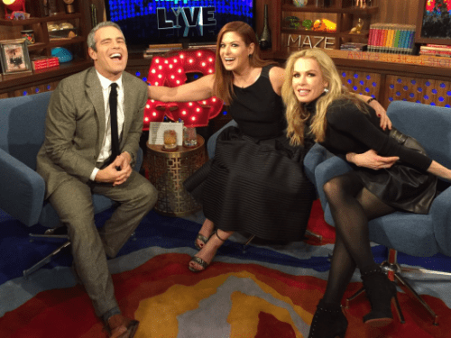 WWHL with Debra Messing and Kathryn Edwards