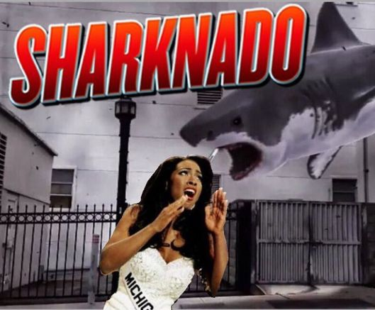 Kenya Moore And Cynthia Bailey Both Land Roles on Sharknado 4