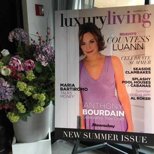 RHONY Luann Cover Luxury Living