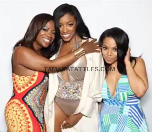 Kandi, Porsha, Lena Filming yet another birthday party for Porsha on 7/16