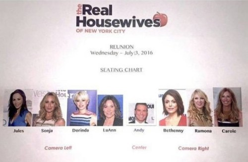 RHONY Reunion Seating Chart