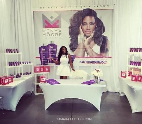 Kenya Moore Debuts Kenya Moore Hair Care on West Coast With Friends