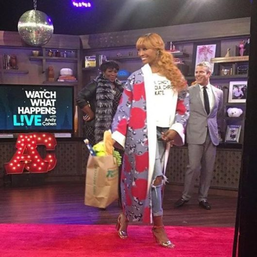 Cynthia Bailey and Miss Lawrence on #WWHL