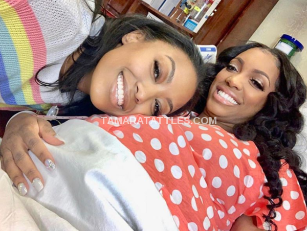 Porsha Williams and her sister at the hospital to deliver baby
