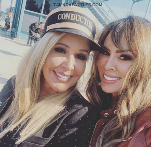 Shannon Beador and Tamra Judge at Shannon's birthday party