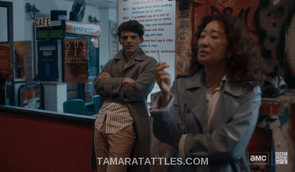 Killing Eve Recap S2 EP04 Hugo and Eve have a smoke