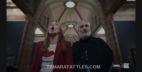 Killing Eve Recap Villanelle with Konstantin in museum