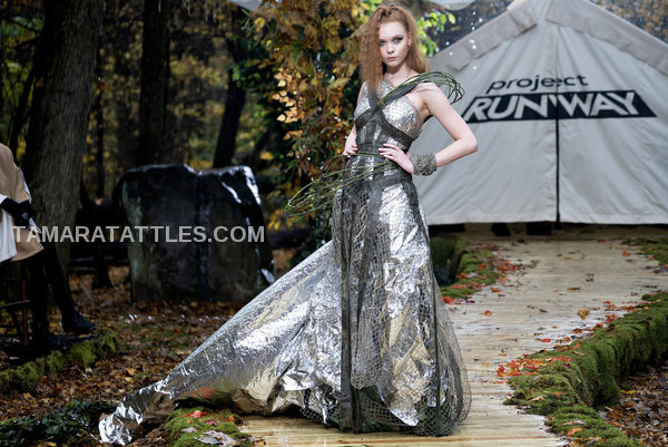 Project Runway Sonja Kasparian tin foil look