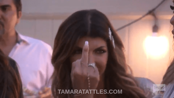 RHONJ Flipping the bird
