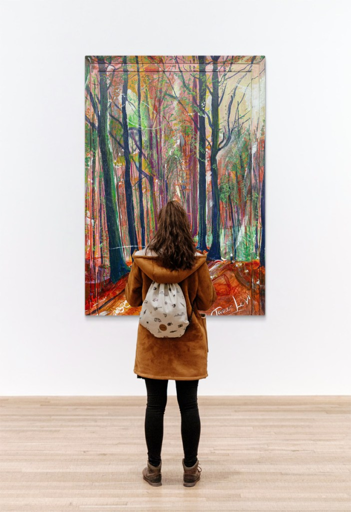 Preview the dimensions of this painting of Tervuren in Autumn in Belgium on gallery walls.