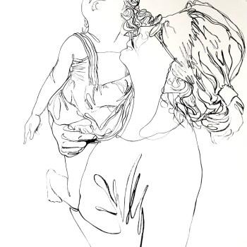 Continuous Line Portrait by Tamar Levi