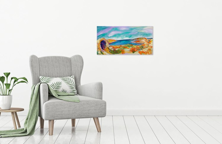Preview this painting of Cape Tenaro as viewed in your home.