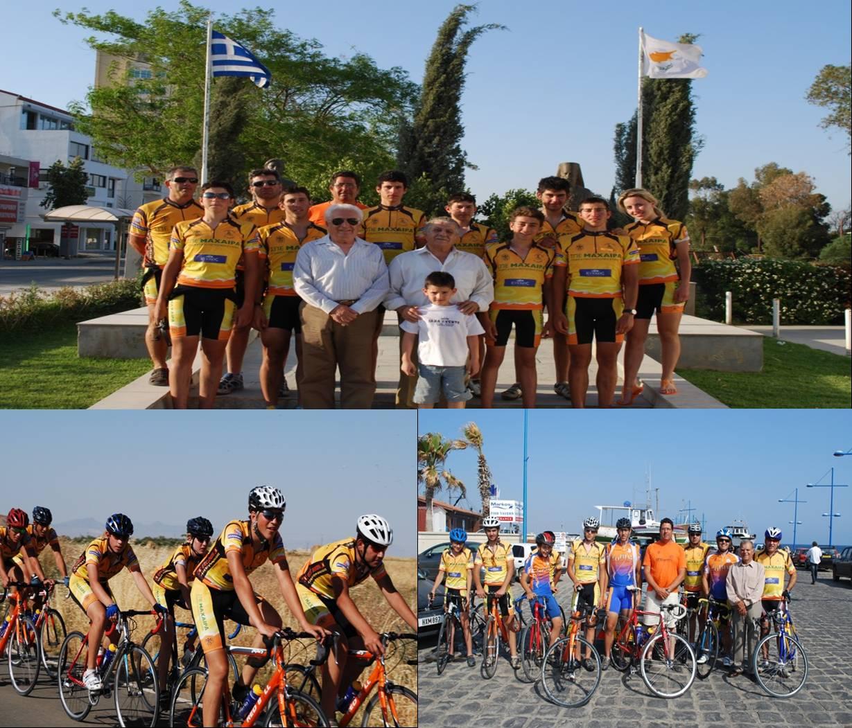 Ο Ποδηλατικός Όμιλος Ταμασού στην Παλώδια