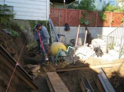 Tamate Landscaping - Steel Support Beams for Retaining wall