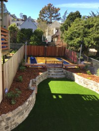 Backyard Landscaping: Private Sports Yard in the Sunset