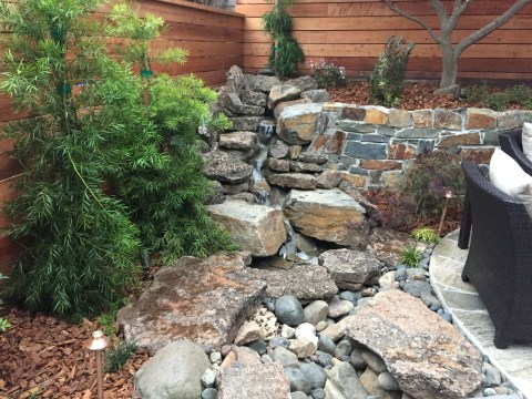Landscaping Project: After, Recirculating Cascade