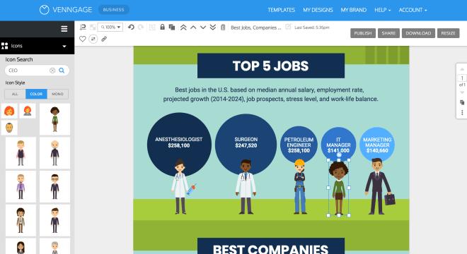 aplikasi membuat infografis