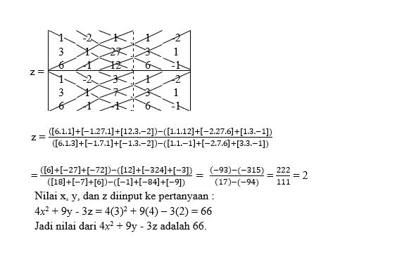 soal sistem persamaan linear tiga variabel2