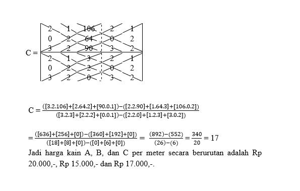 soal sistem persamaan linear tiga variabel4