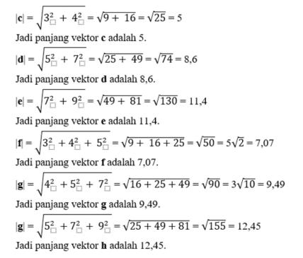 contoh panjang vektor