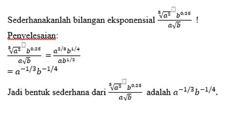 contoh sifat eksponensial