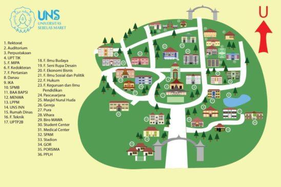 Lokasi dan Lingkungan Kampus UNS