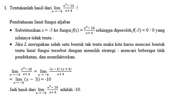 contoh limit 1