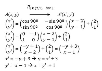 contoh soal pemhasan geometri transformasi