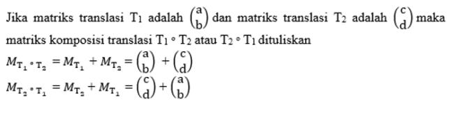 komposisi translasi