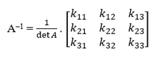 rumus invers matrik 3x3