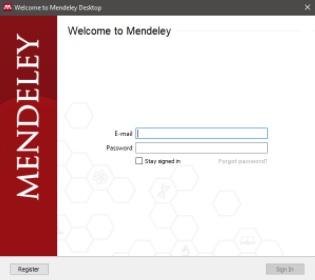 Mendaftar Mendeley