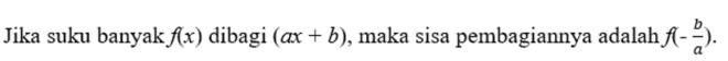 Teorema sisa polinomial