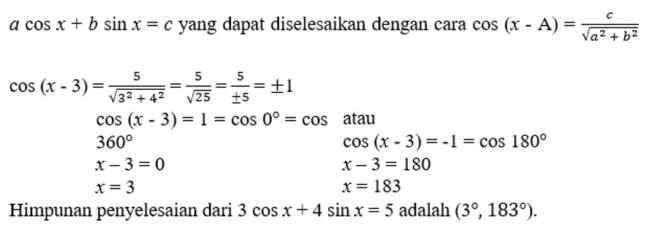 contoh soal dan pembahasan fungsi trigonometri