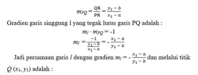 persamaan lingkaran 6