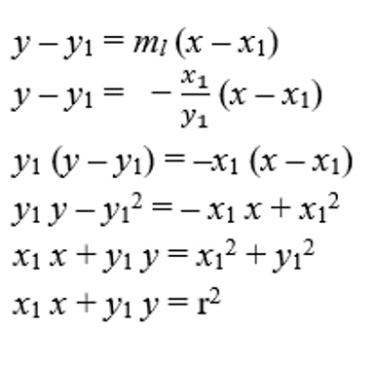 persaman garis singgung lingkaran