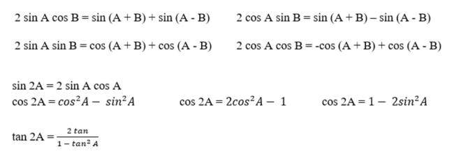 rumus perkalian trigonometri