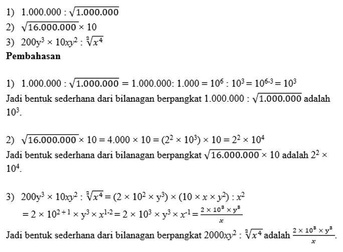 contoh soal pembahasan perpangkatan 1