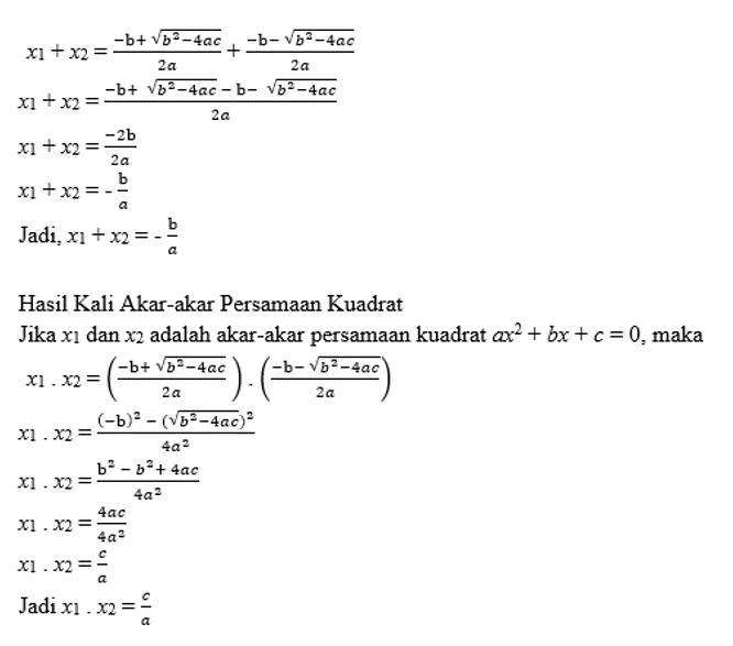 rumus persamaan kuadrat 1