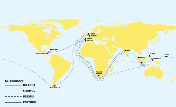 Peta Pelayaran Bangsa Eropa