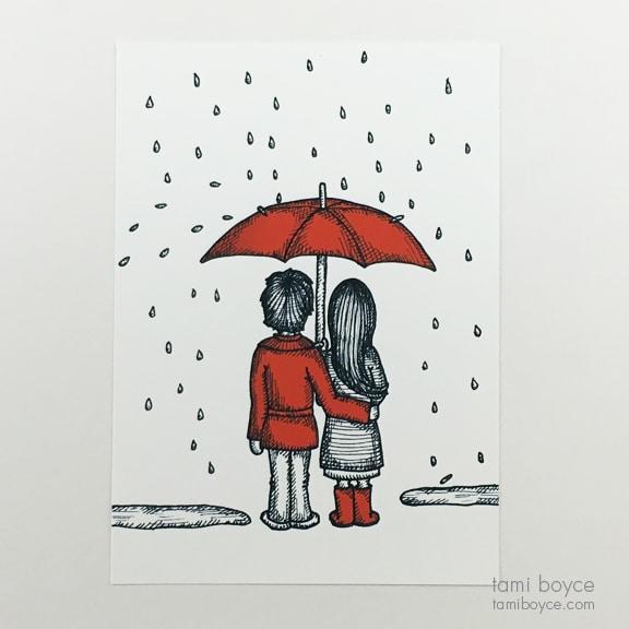 Under The Umbrella Love Doodle Series Tami Boyce Tami
