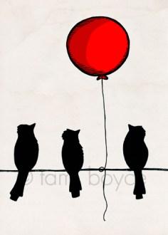 balloon_bird silhouettes
