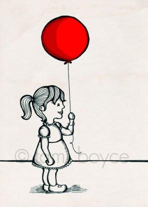 balloon little girl