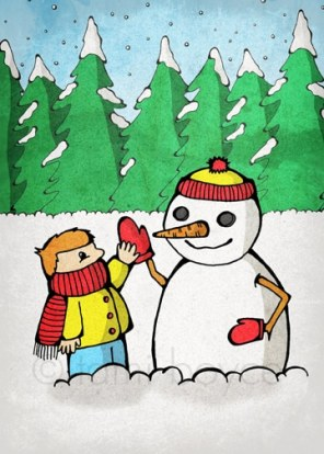kids_with snowman