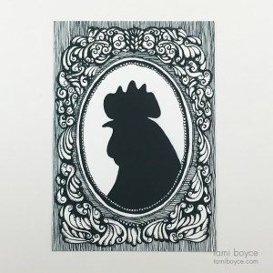 Rooster Silhouette, Cameo Series