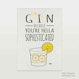 gin hella sophisticated drink series