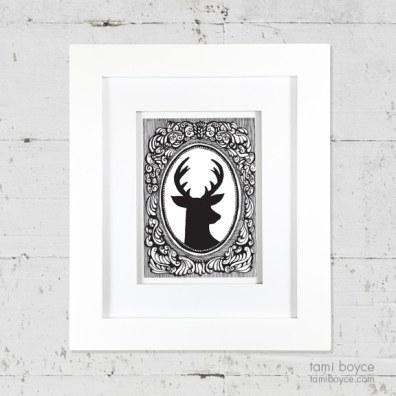 2_deer on wall